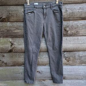 GAP 1969 Legging Jean in Gray 31R Stretch